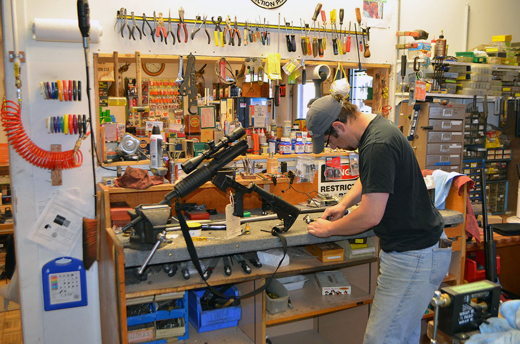 Gunsmith working