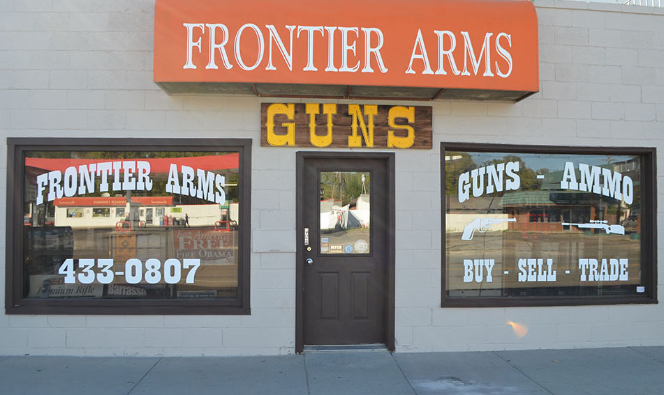Gun store front and main entrance.